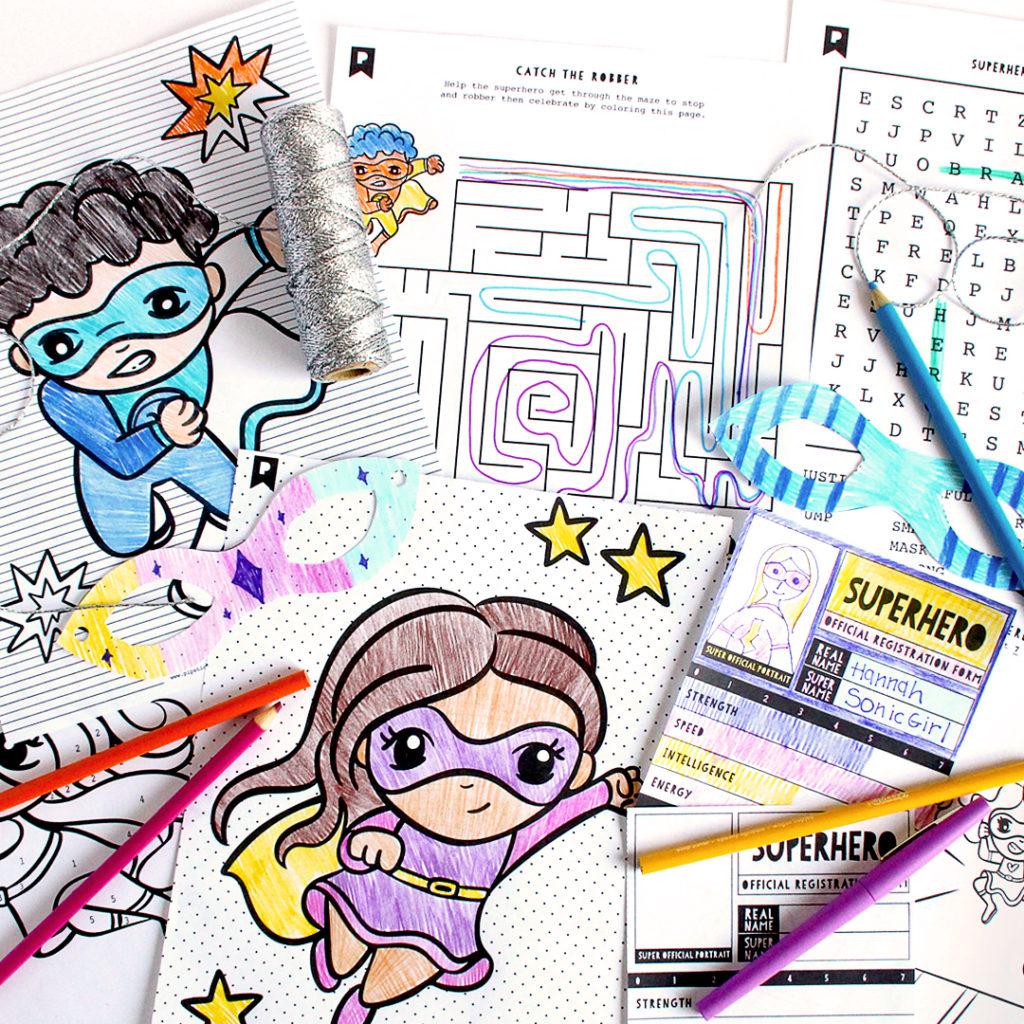 2020 October Kids Club Printables