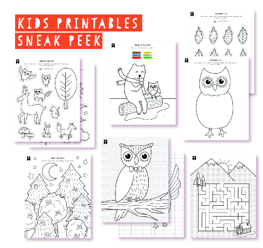 2018 October Kids Club Printables