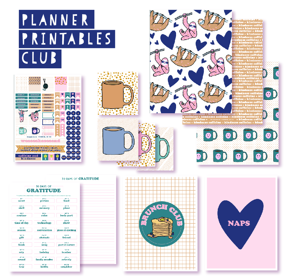 2018 October Planner Club Printables