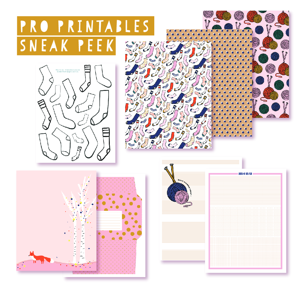 2018 October Pro Club Printables