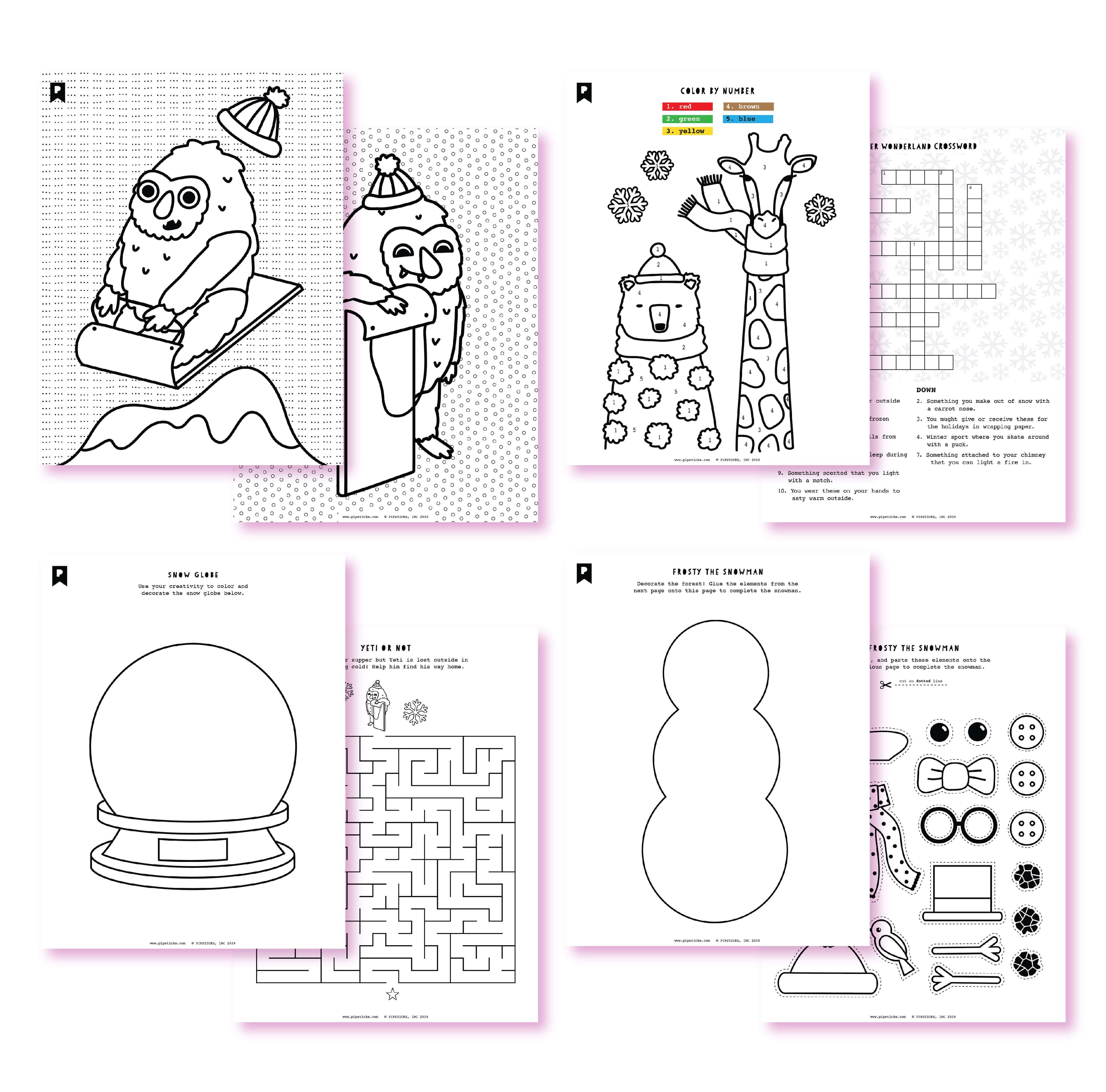 2020 December Kids Cub Printables