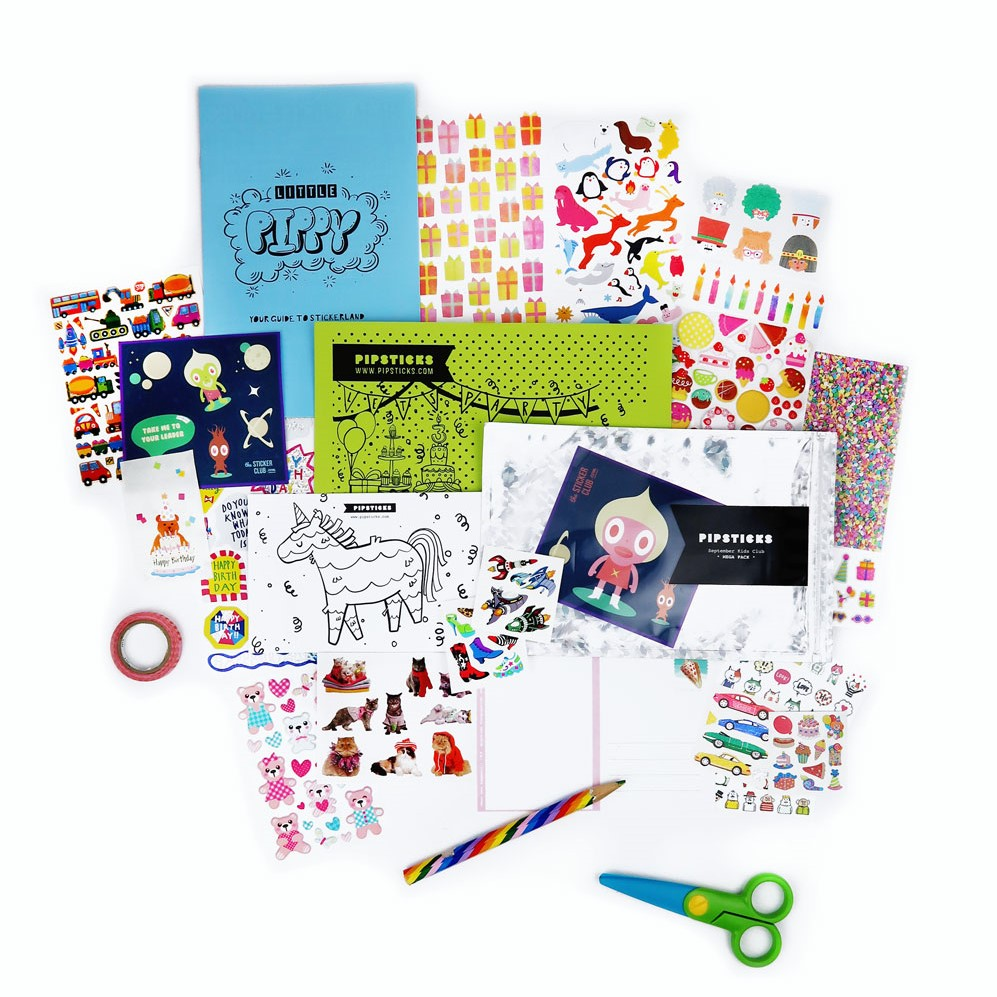 SEPTEMBER 2017 KIDS CLUB STICKERS!