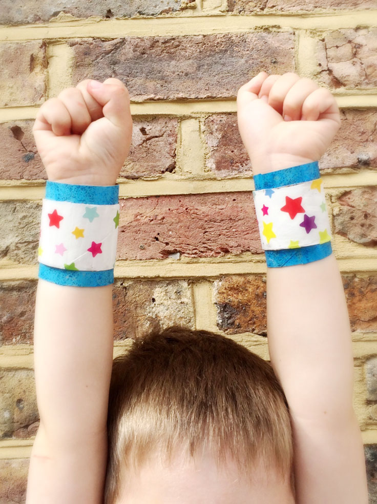 Here's a super easy sticker craft for your little superheroes!