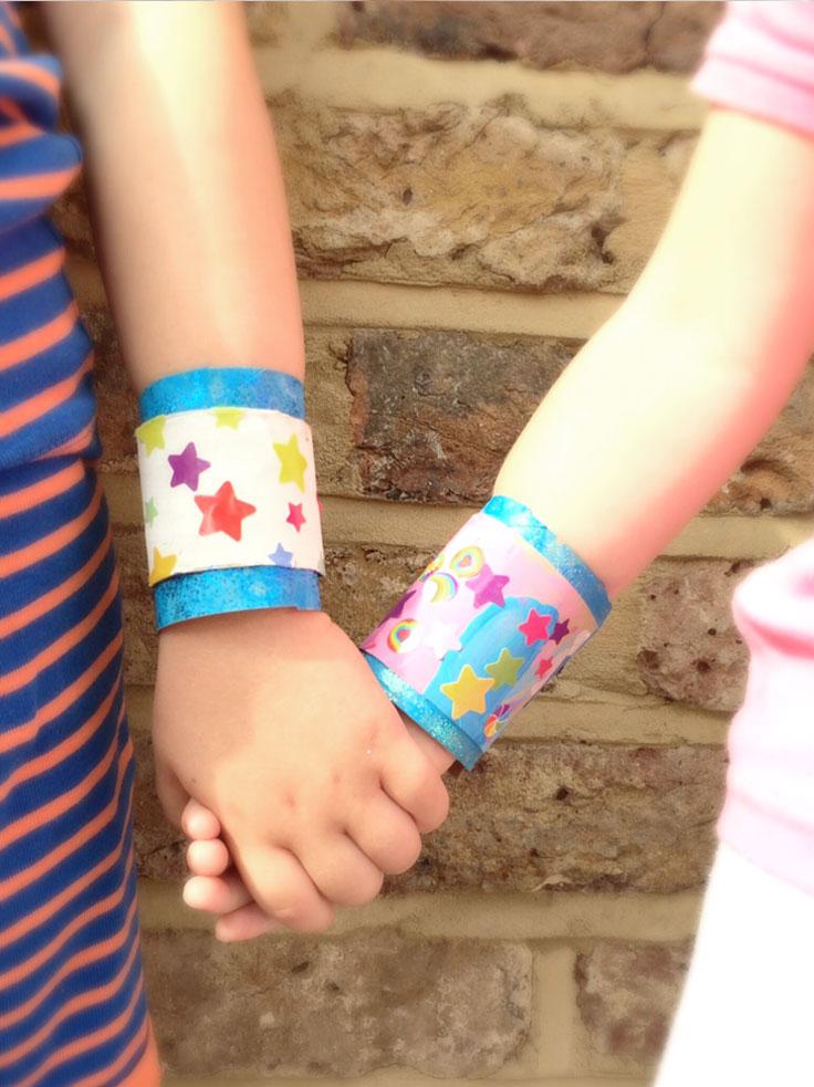 sticker wrist bands