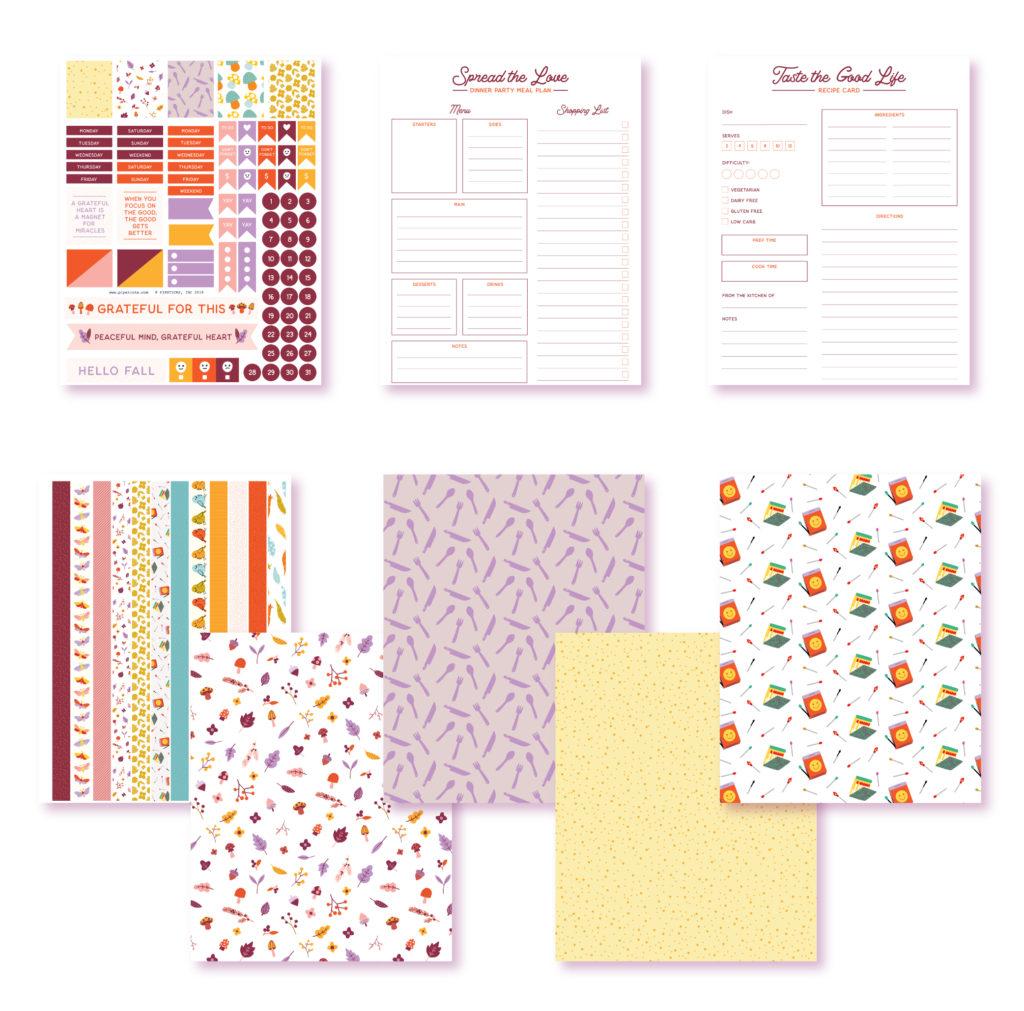 2019 October Planner Printables