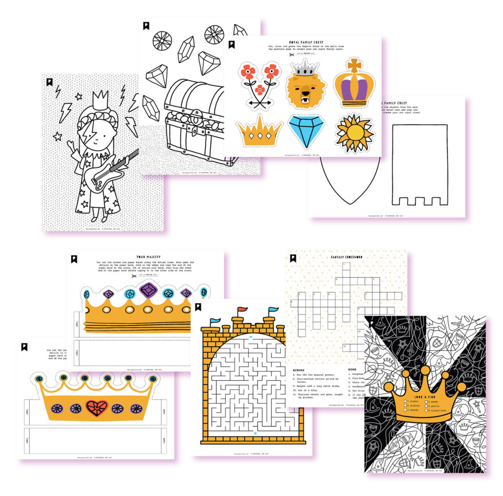 2020 April Kids Printables Club