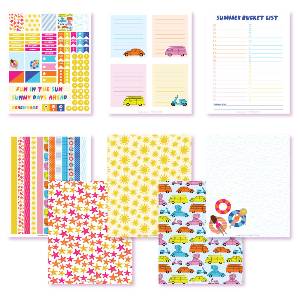 2020 June Planner Club Printables