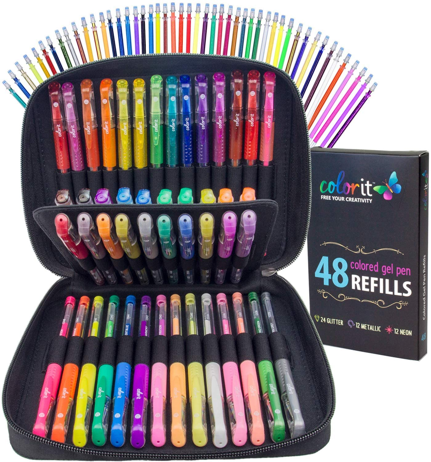 48 pens with refills