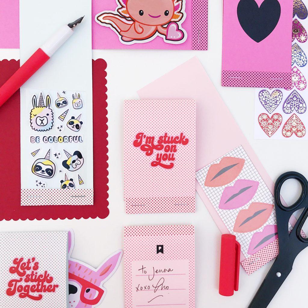FREE Valentines Printable:  Sticker Matchbooks!