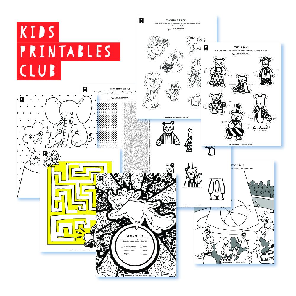 2018 August Kids Club Printables