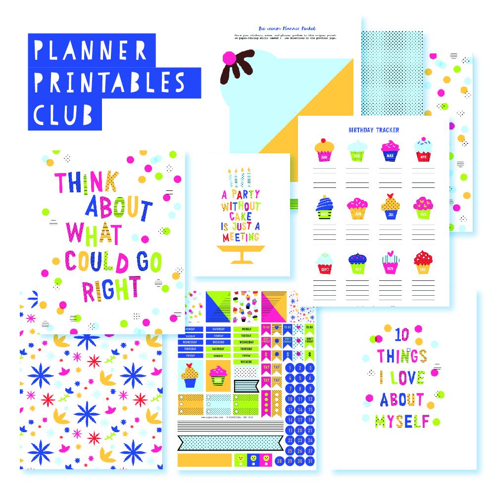 2018 August Planner Club Printables