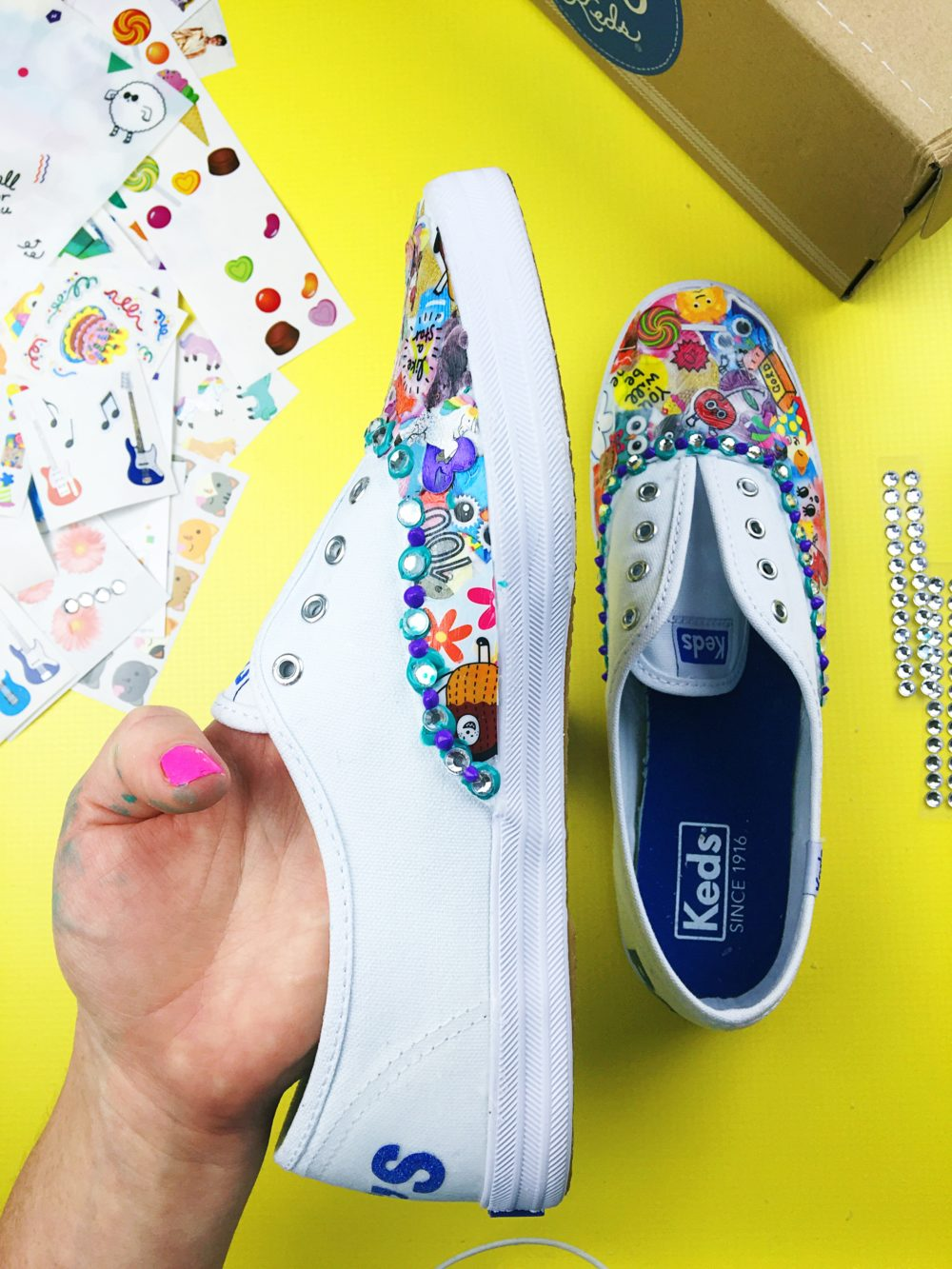 puffy paint dots