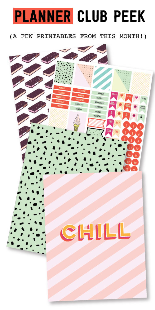 2018 June Planner Club Printables