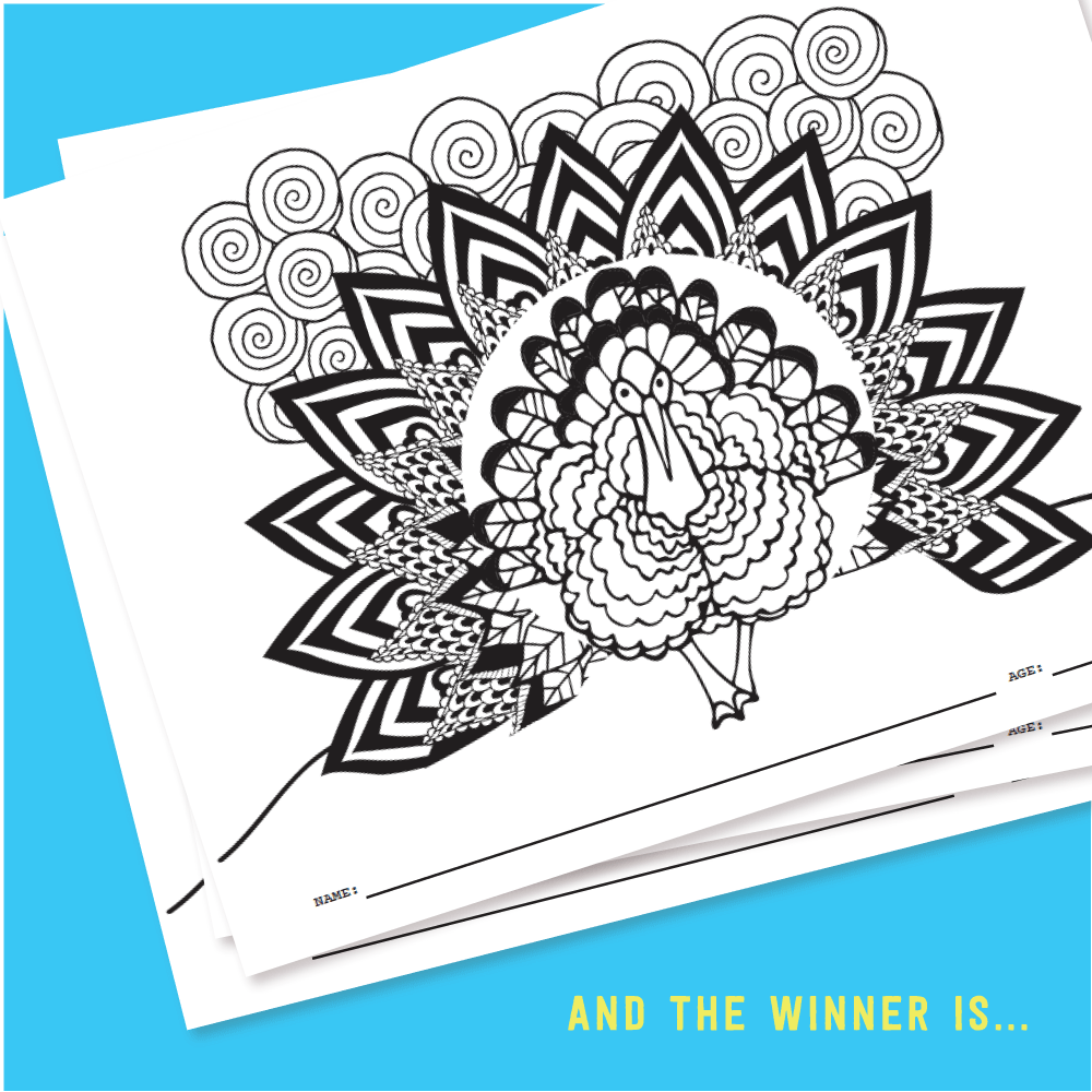 November Kids Club Coloring Contest Winner