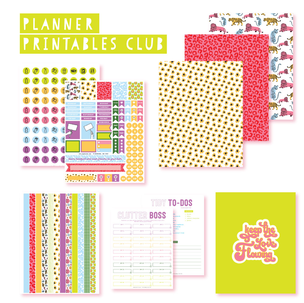 2019 April Planner Club Printables