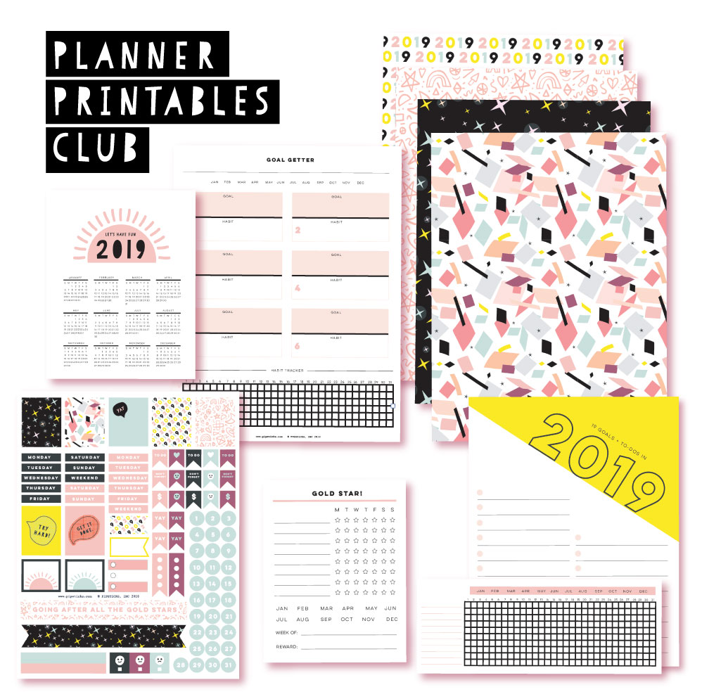 2018 December Planner Club Printables