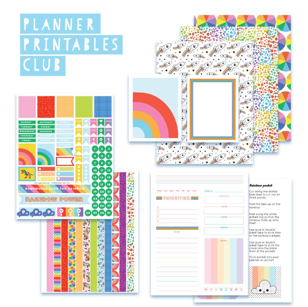 2019 February Planner Club Printables