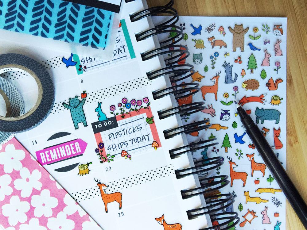 planner_-woodland-animals