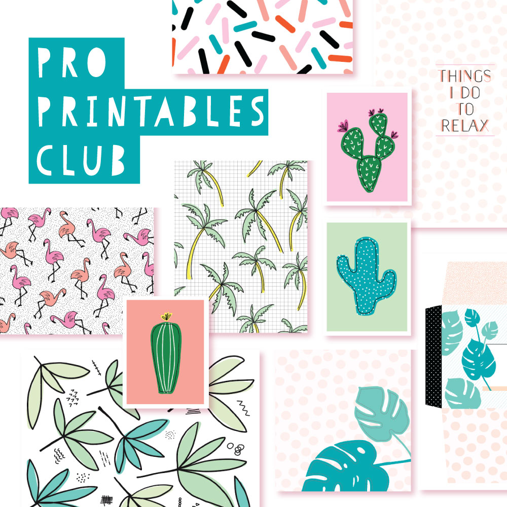 2018 July Pro Club Printables