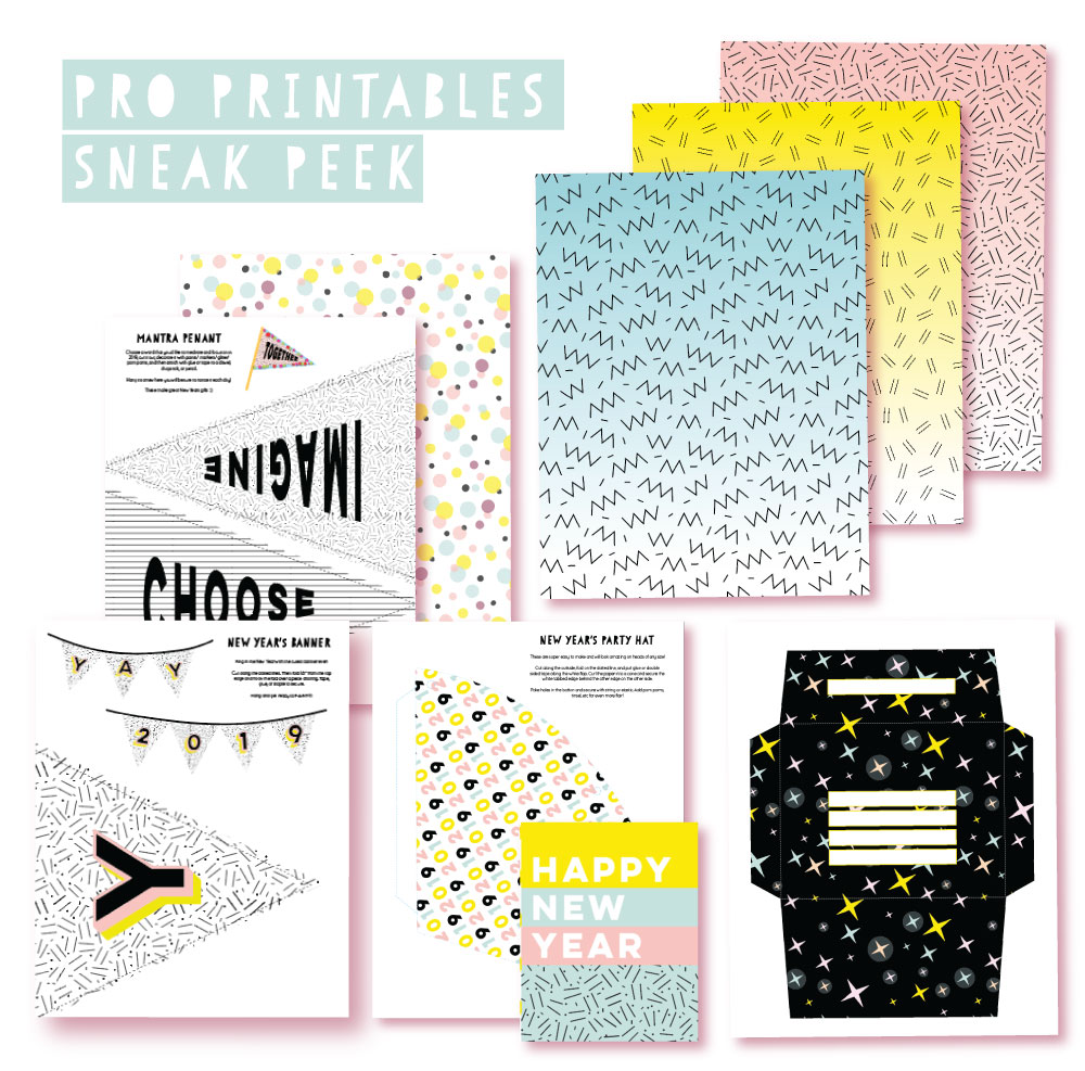 2018 December Pro Club Printables