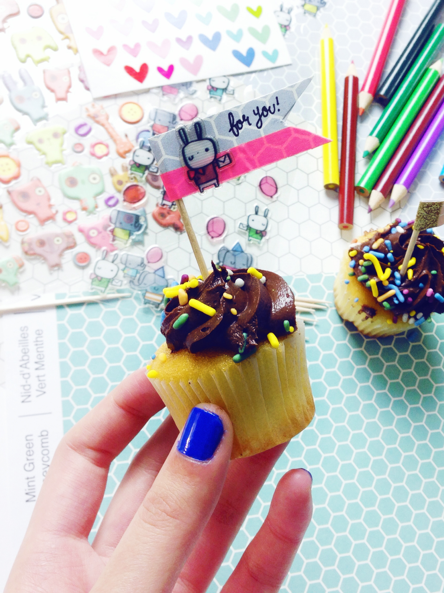 Sticker-cupcake