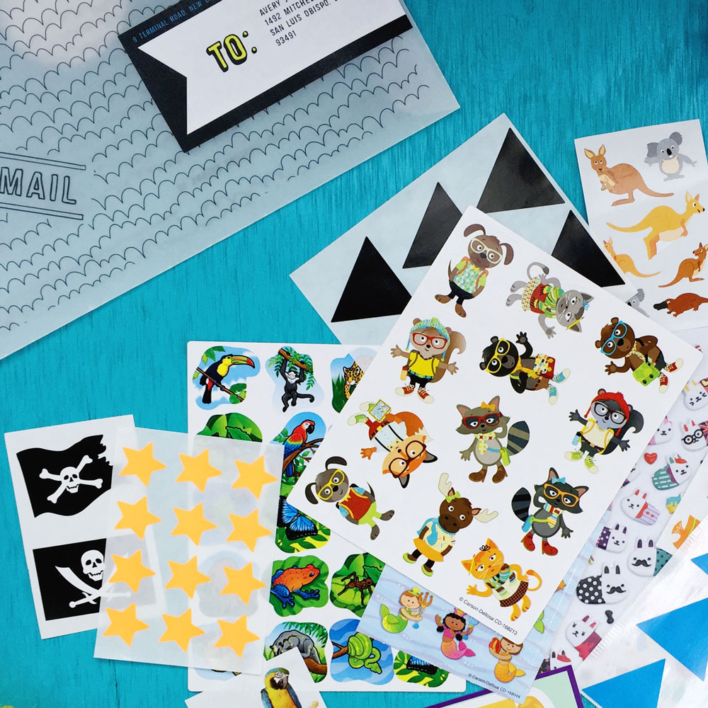 April 2016 Kids Club stickers!