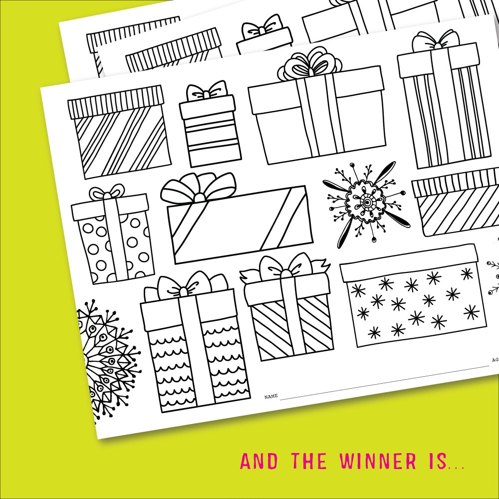 December Kids Club Coloring Contest Winner