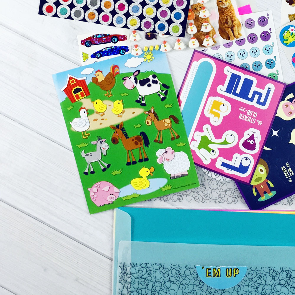 June 2016 Kids Club Stickers!