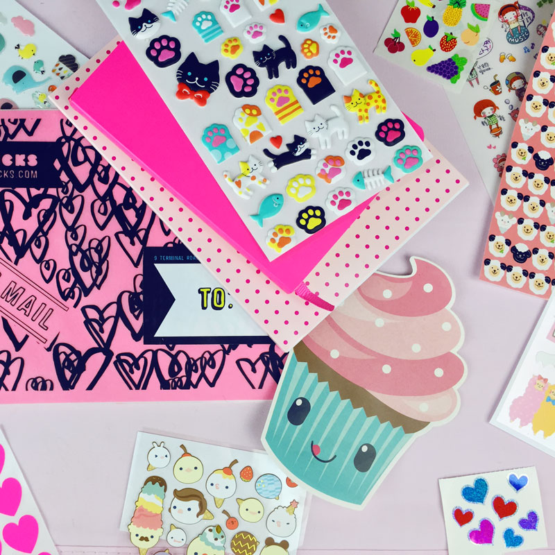 Kawaii stickers have a lot to smile about
