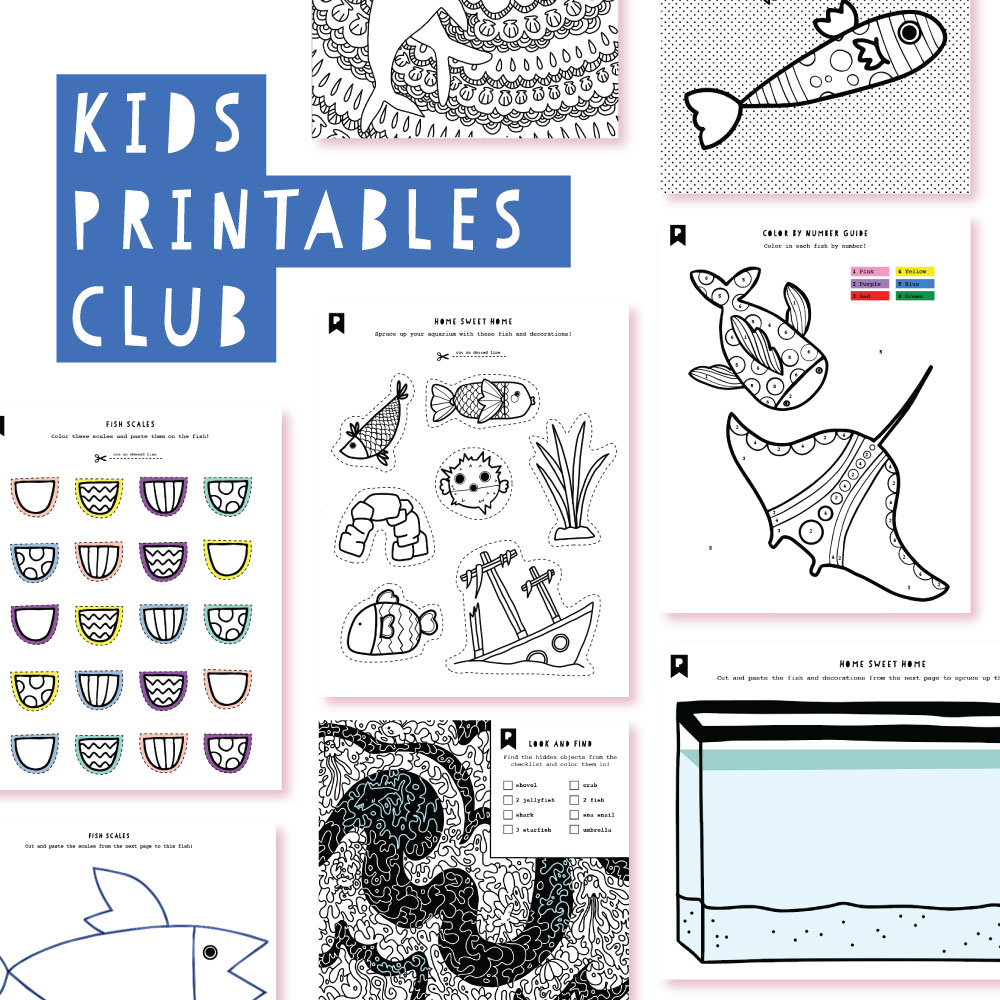 2018 July Kids Club Printables