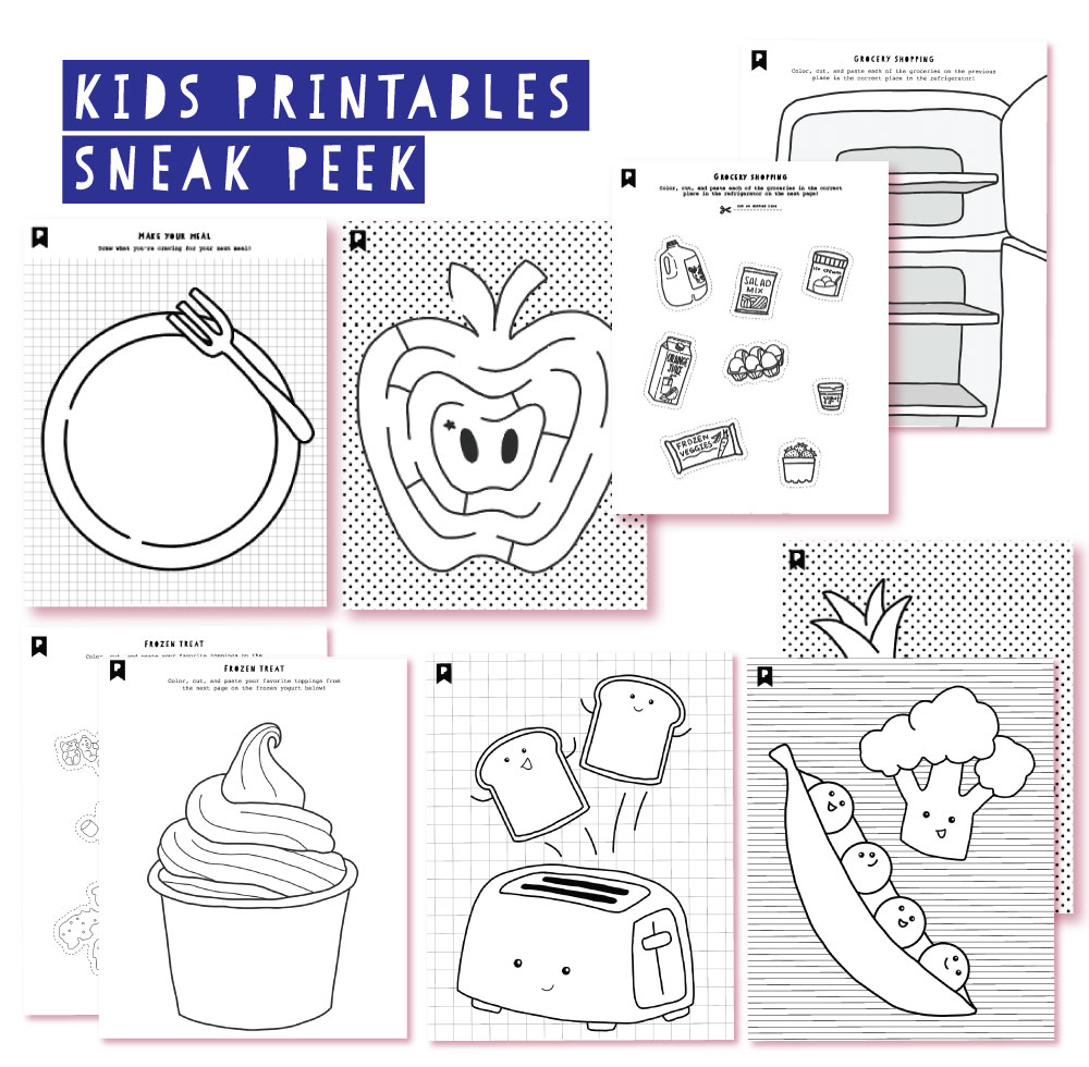 2018 December Kids Club Printables
