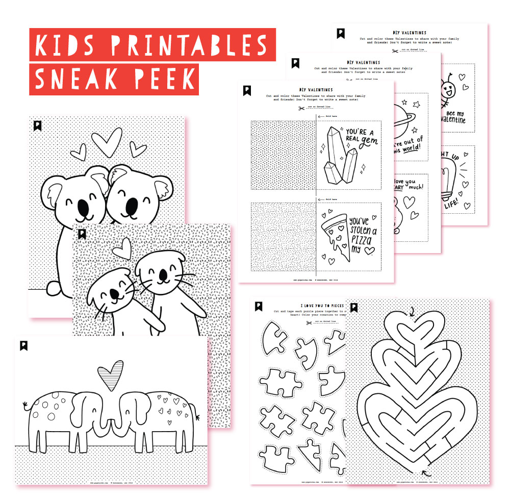 2019 January Kids Club Printables