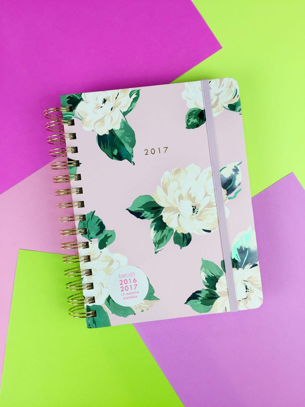 medium floral bando planner