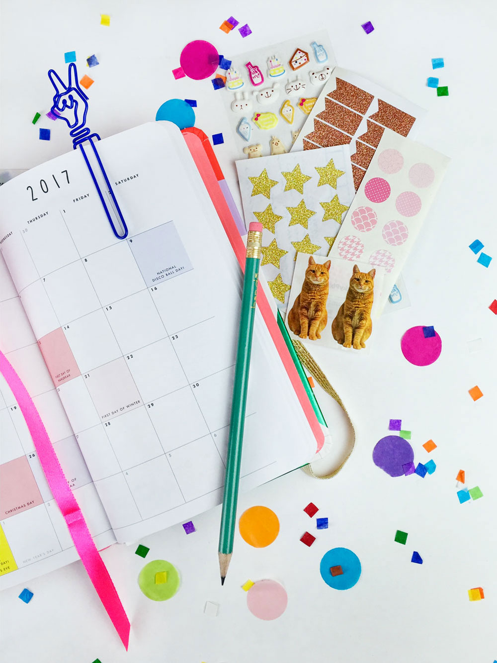 bando planner month with pipsticks stickers