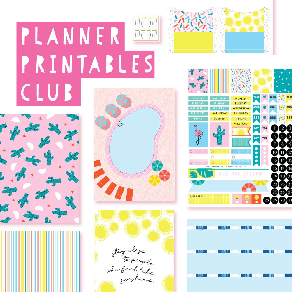 2018 July Planner Club Printables