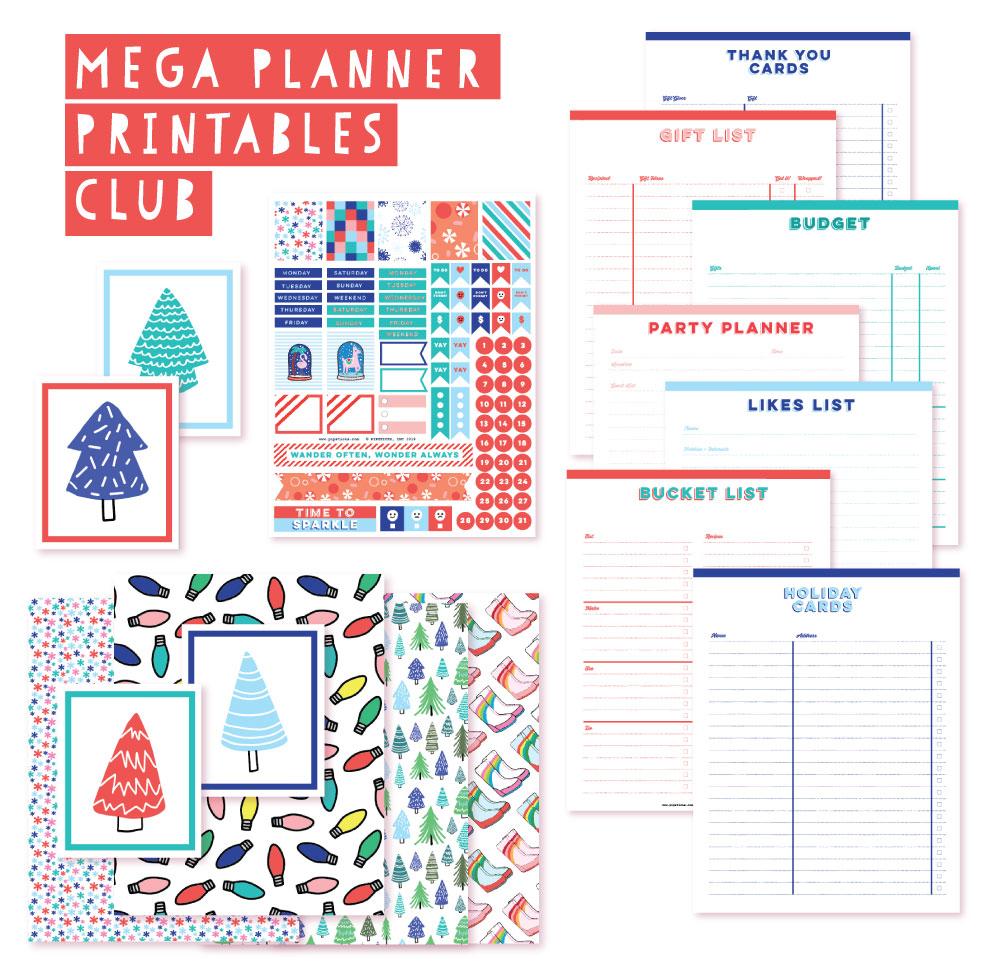 2018 November Planner Club Printables