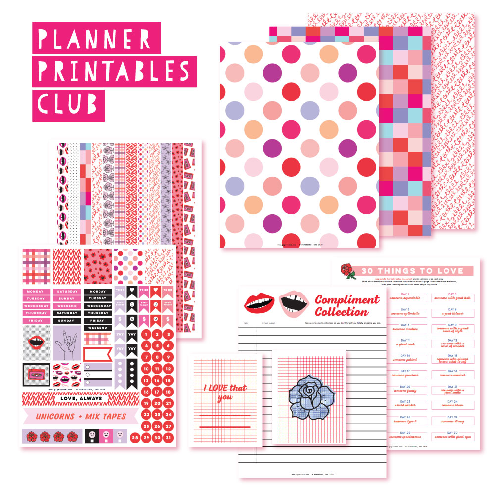 2019 January Planner Club Printables