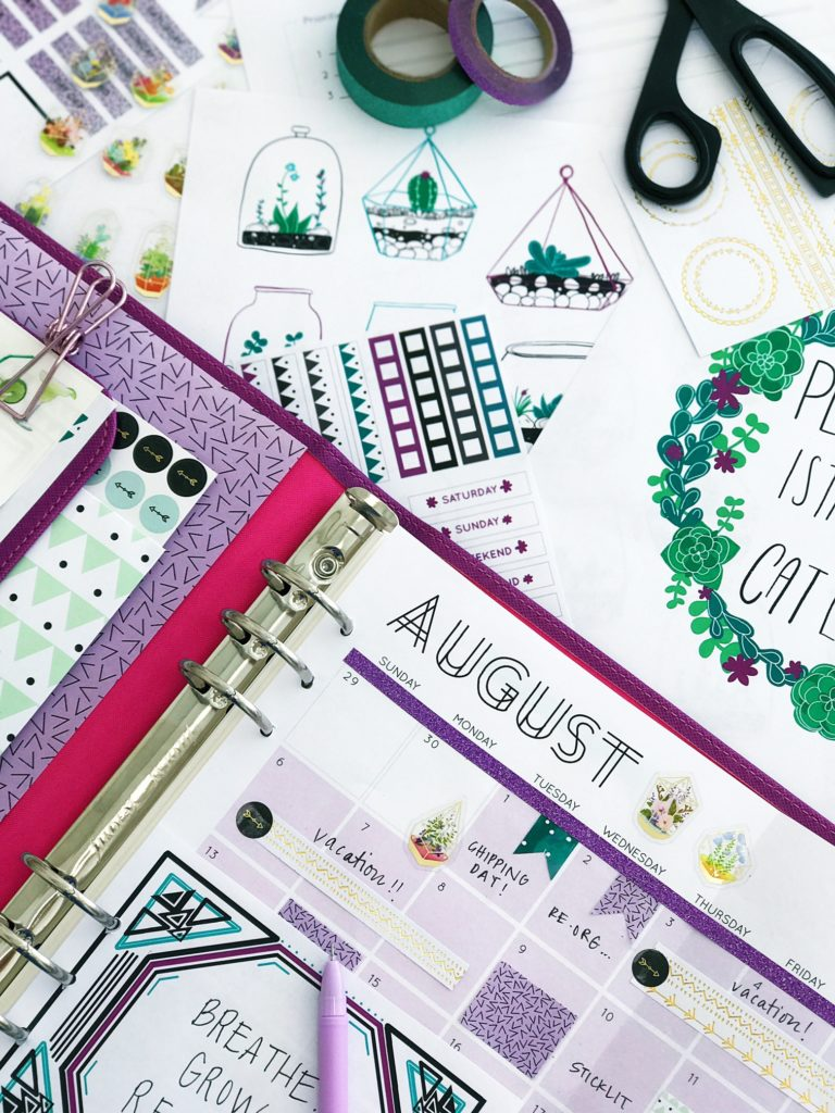 July 2017 Planners Printables Subscription