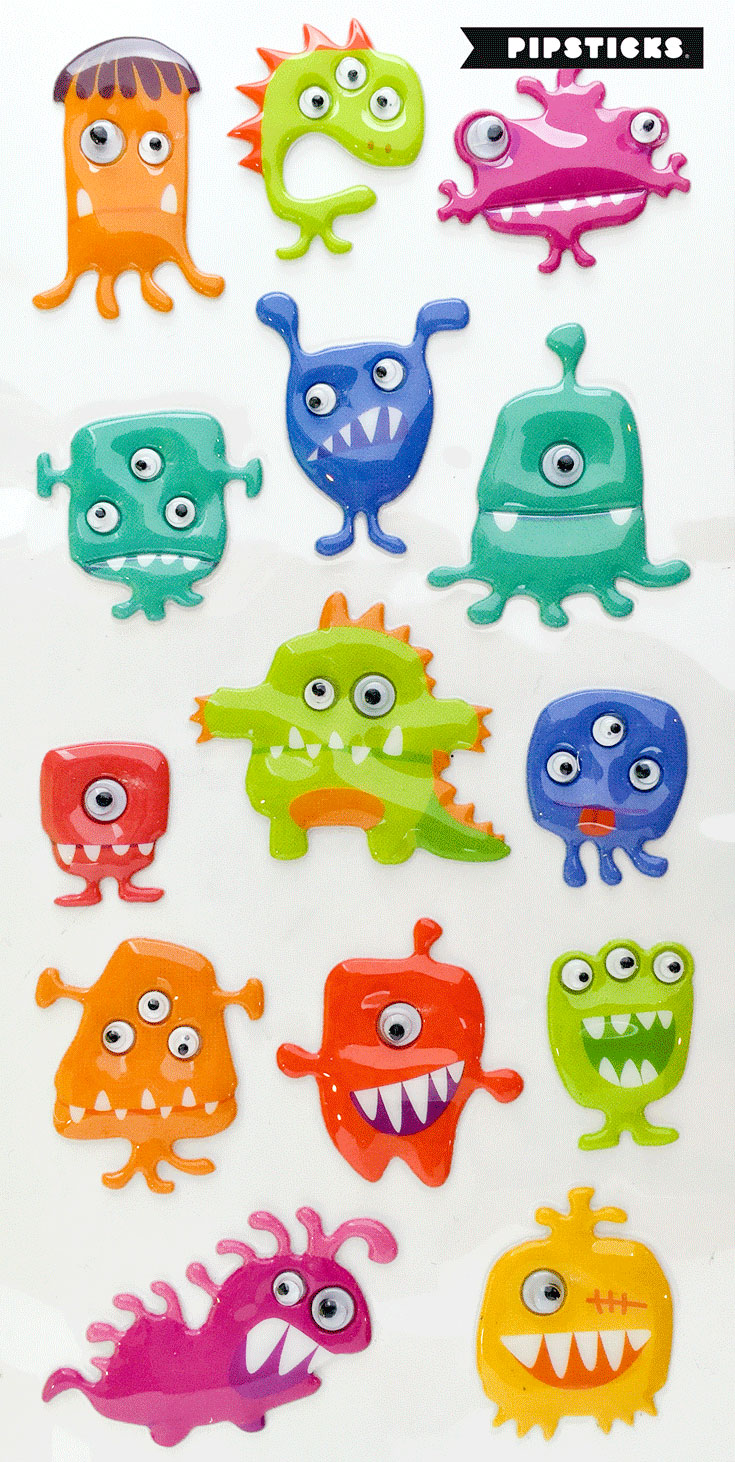 googly puffy stickers
