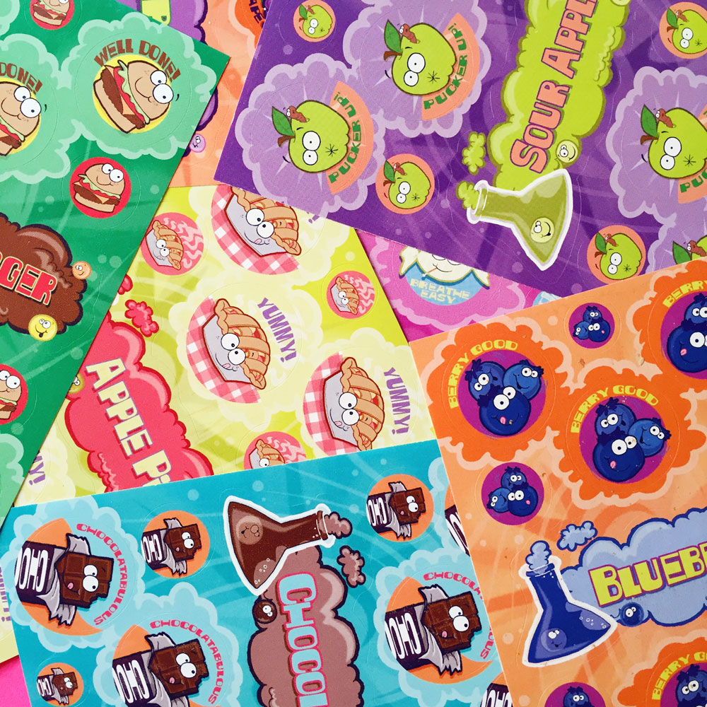 Scratch n Sniff Stickers: 51 reasons to love The Stink Factory