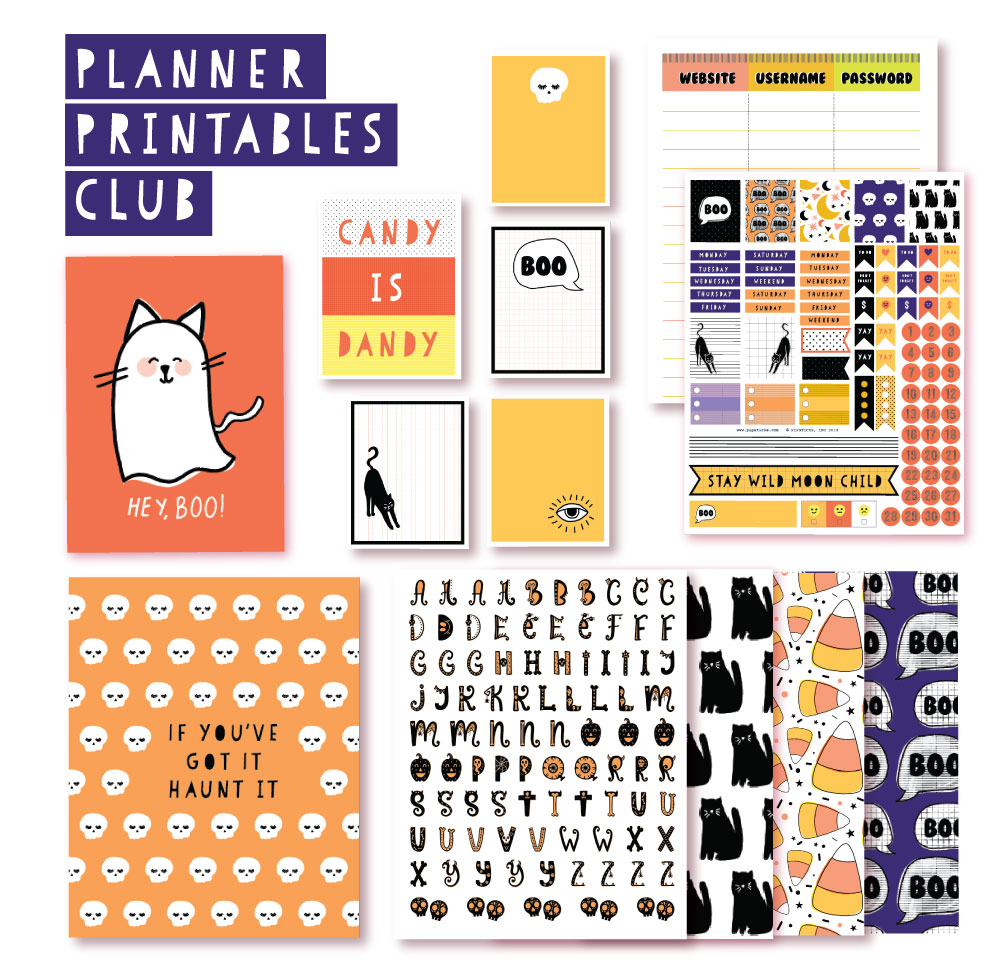 2018 September Planner Club Printables